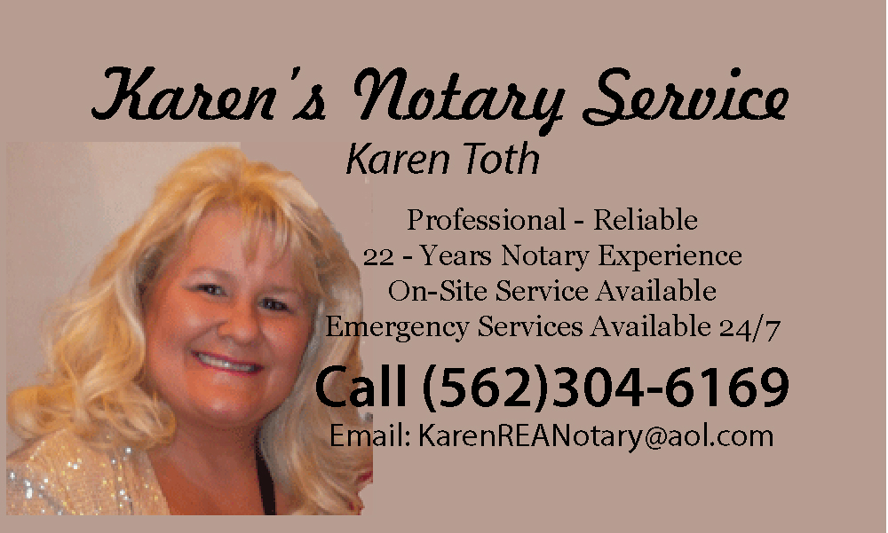 Karen S. Toth, Notary Public, Realtor